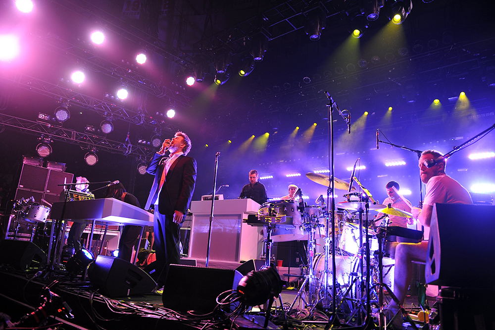 sound system. lcd soundsystem fulfill their dream by reaching #1 sound system d