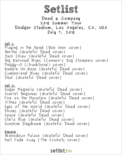 Concert Review: Dead & Company at The Dodger Stadium