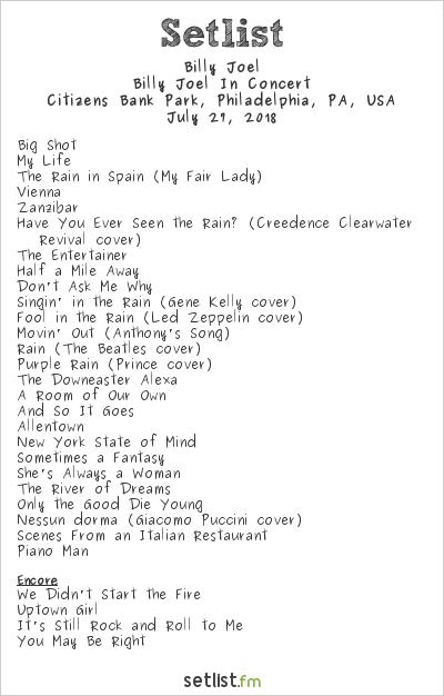 Tour Highlights Billy Joel Setlist Fm
