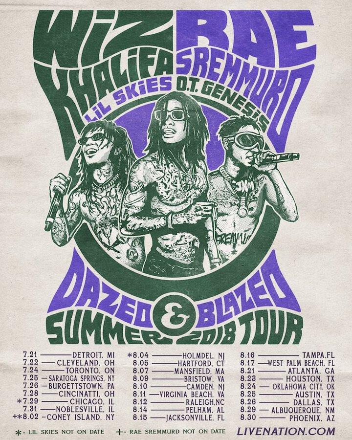 ad0b31cb Wiz Khalifa and Rae Sremmurd Announce Dazed & Blazed Tour | setlist.fm