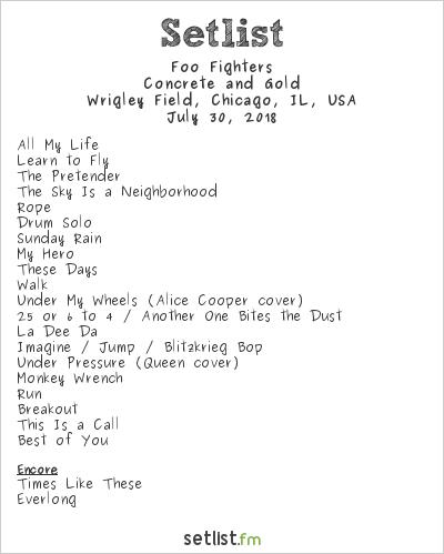 Foo Fighters Concrete And Gold Tour Spoiler Setlist Fm