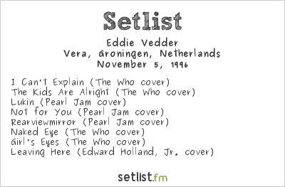 Eddie Vedder Played A Surprise Set On This Day in 1996 | setlist fm