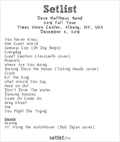 dave matthews setlist 2020