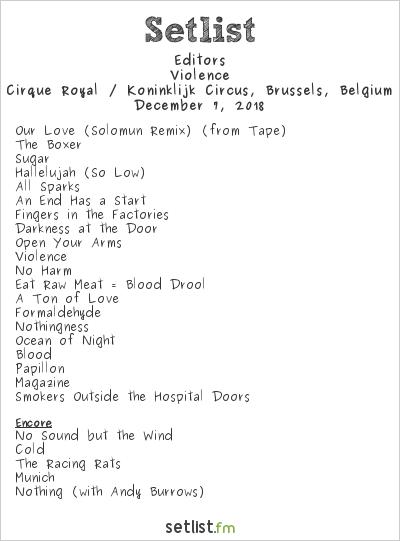 Setlist Playlist: Exploring the Songs on Editors'
