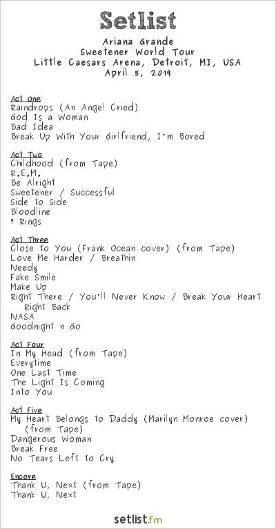 Udforsk sangene på Ariana Grandes Sweetener World Tour   LiveNationTv