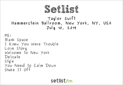 Taylor Swift Live Debuts You Need To Calm Down See The Setlist Setlist Fm