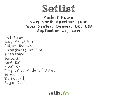 Modest Mouse Tour 2020.Setlist Highlights From Modest Mouse S 2019 Tour With Black