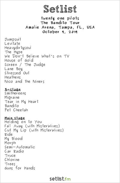 21 Pilots Tour 2020.Twenty One Pilots Tour Setlist 2020 Tour 2020 Infiniteradio