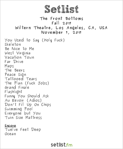 Live Review Photos The Front Bottoms At The Wiltern Setlist Fm
