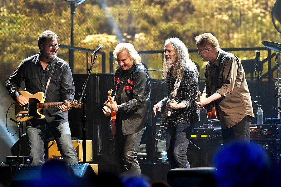 The Eagles From Left Timothy B Schmidt Don Henley Glenn Frey