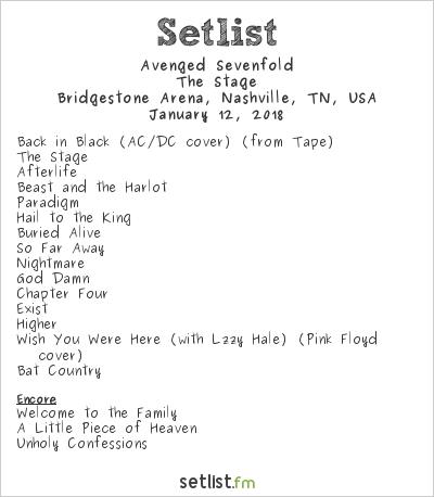 Avenged Sevenfoldu0027s Setlist